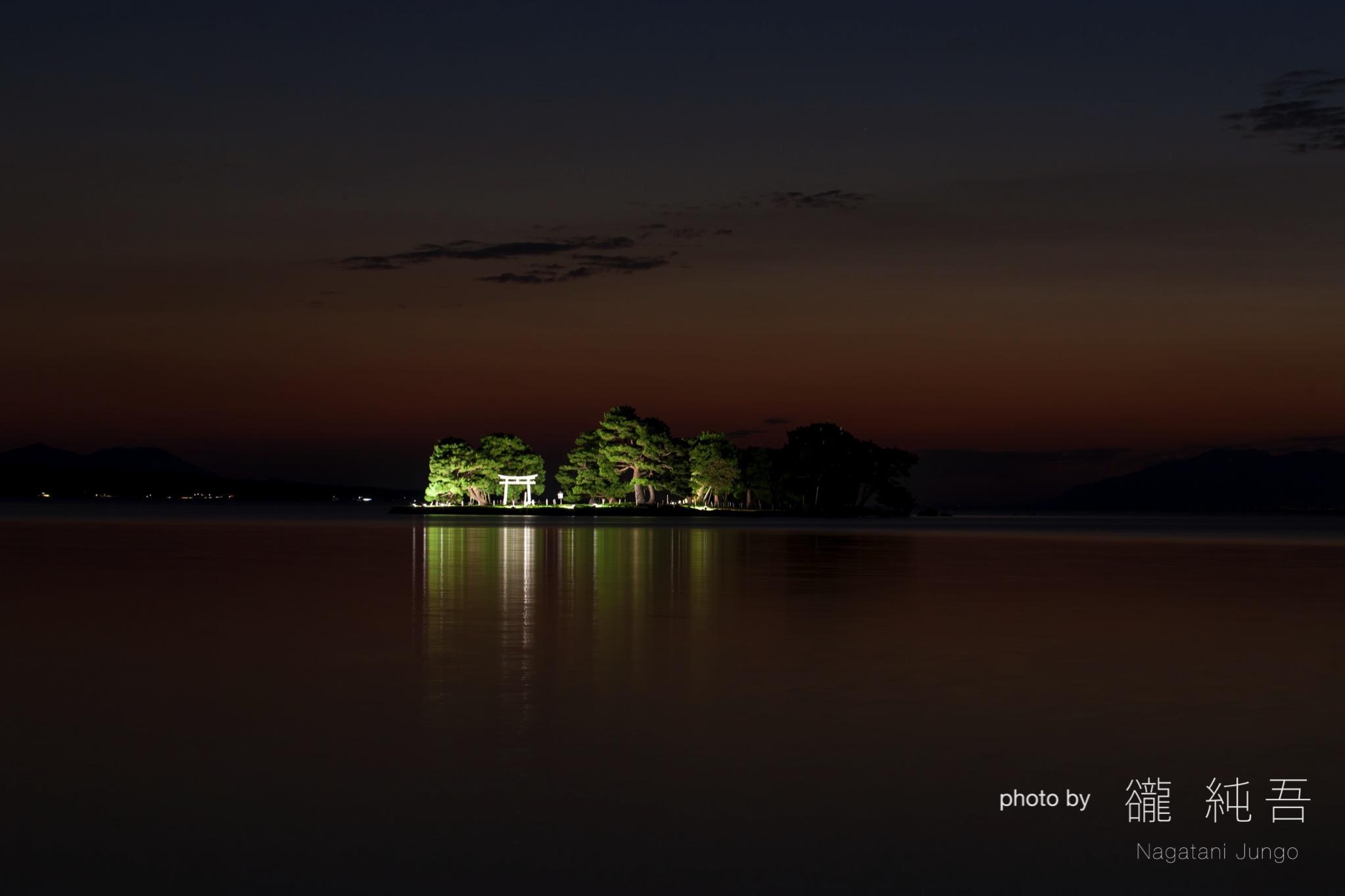 宍道湖・嫁ヶ島ライトアップ